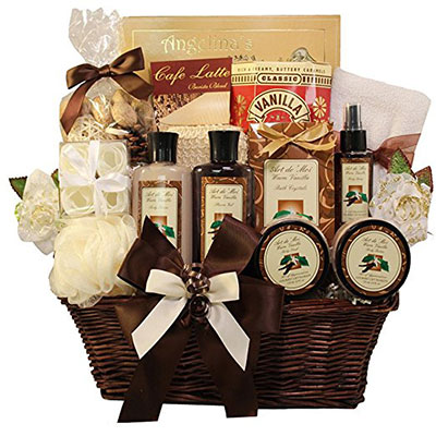 Art Of Appreciation Gift Baskets Essence Luxury Vanilla Spa Bath And Body Set