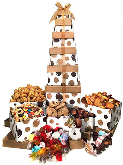 Birthday Gift Basket Box Tower 6 Tier
