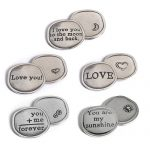 Love Collection Pewter Sentiment Coins