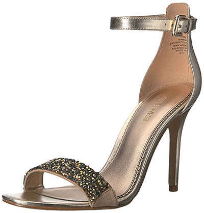 Nine West Womens Mana Leather Heeled Sandal